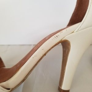 Jeffrey Campbell Shoes - Jeffrey Campbell Hough White Leather Open Toe Heel